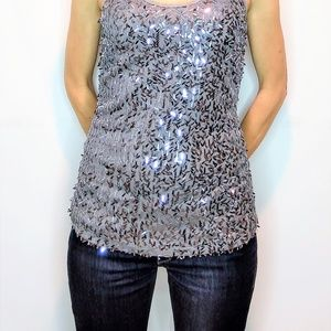 Vanity Sparkly Dress Tank top Silver Grey Size S